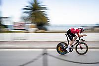 Kasper Asgreen (DEN/Deceuninck - Quick Step)<br /> <br /> Final stage 7 (ITT) from San Benedetto del Tronto to San Benedetto del Tronto (10.1km)<br /> <br /> 56th Tirreno-Adriatico 2021 (2.UWT) <br /> <br /> ©kramon