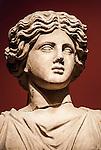 Statue in the Antalya Museum in Antalya, Turkey