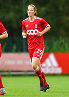 Hanne Merkelbach (25) of Standard pictured during a female soccer game between Standard Femina de Liege and Eendracht Aalst dames on the fourth matchday in the 2021 - 2022 season of the Belgian Scooore Womens Super League , Saturday 11 th of September 2021  in Angleur , Belgium . PHOTO SPORTPIX | BERNARD GILLET