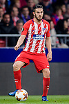 Jorge Resurreccion Merodio, Koke, of Atletico de Madrid in action during the UEFA Europa League quarter final leg one match between Atletico Madrid and Sporting CP at Wanda Metropolitano on April 5, 2018 in Madrid, Spain. Photo by Diego Souto / Power Sport Images