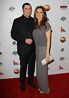 12 July 2020 - Actress and wife of John Travolta Kelly Preston dead at age 57 from breast cancer.12 January 2013 - Los Angeles, California - G'Day USA Black Tie Gala at JW Marriott. Photo Credit: Kevan Brooks/AdMedia