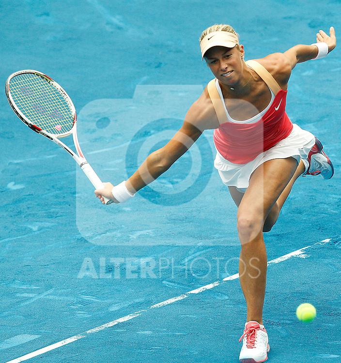 Andrea Hlavackova during Mutua Madrid Open 2012 match on may 8th 2012...Photo: Cesar Cebolla / ALFAQUI
