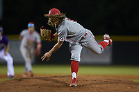 St. John's Red Storm relief pitcher Brandyn Cruz (8) in action against the Western Carolina Catamounts at Childress Field on March 12, 2021 in Cullowhee, North Carolina. (Brian Westerholt/Four Seam Images)