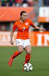 Nederland, Rotterdam, 20 mei 2015<br /> Oefeninterland voor WK Canada 2015<br /> Seizoen 2014-2015<br /> Nederland-Estland<br /> Vanity Lewerissa van Nederland in actie met bal