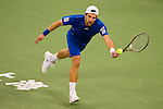 SHANGHAI, CHINA - OCTOBER 15:  Jurgen Melzer of Austria returns a ball to Juan Monaco of Argentina during day five of the 2010 Shanghai Rolex Masters at the Shanghai Qi Zhong Tennis Center on October 15, 2010 in Shanghai, China.  (Photo by Victor Fraile/The Power of Sport Images) *** Local Caption *** Jurgen Melzer