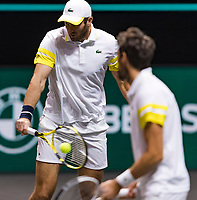 Rotterdam, The Netherlands, 6 march  2021, ABNAMRO World Tennis Tournament, Ahoy,  Semi final doubles: Jeremy Chardy (FRA) / Fabrice Martin (FRA).<br /> Photo: www.tennisimages.com/henkkoster