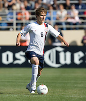 Michael Bradley looks for a teammate. The USA defeated China, 4-1, in an international friendly at Spartan Stadium, San Jose, CA on June 2, 2007.