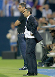 CD Leganes' coach Mauricio Pellegrino (l) and FC Barcelona's coach Ernesto Valverde during La Liga match. September 26,2018. (ALTERPHOTOS/Acero)