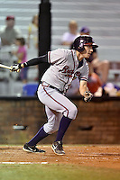 Danville Braves designated hitter Tanner Krietemeier #9 swings at a pitch during a game against the Johnson City Cardinals at Howard Johnson Field September 4, 2014 in Johnson City, Tennessee. The Braves defeated the Cardinals 6-1. (Tony Farlow/Four Seam Images)