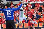 Magdeburgs Tim Hornke (Nr.17) beim Wurf beim Spiel in der Handball Bundesliga, Die Eulen Ludwigshafen - SC Magdeburg.<br /> <br /> Foto © PIX-Sportfotos *** Foto ist honorarpflichtig! *** Auf Anfrage in hoeherer Qualitaet/Aufloesung. Belegexemplar erbeten. Veroeffentlichung ausschliesslich fuer journalistisch-publizistische Zwecke. For editorial use only.