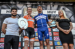 Julian Alaphilippe (FRA) Quick-Step Floors wins La Fleche Wallonne 2018 and Anna Van Der Breggen (NED) Boels Dolmans Cycling Team wins La Fleche Wallonne Femmes, running 198.5km from Seraing to Huy, Belgium. 18/04/2018.<br /> Picture: ASO/Karen Edwards | Cyclefile <br /> <br /> All photos usage must carry mandatory copyright credit (© Cyclefile | ASO/Karen Edwards)