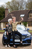 BNPS.co.uk (01202) 558833. <br /> Pic: CorinMesser/BNPS<br /> <br /> Pictured: James Cowe with his nan, Maureen Travers, and the Mercedes he treated himself to last week. <br /> <br /> An NHS worker who quit his job to become an online male stripper now earns £70,000 a month. <br /> <br /> James Cowe, 23, worked as a healthcare assistant for six years before becoming demoralised at struggling to get by on his modest salary.<br /> <br /> He decided on a drastic career change and started uploading lewd images of himself on the online sharing platform OnlyFans and things soon took off.
