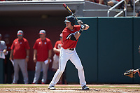 Cam Walsh (6) of the Northeastern Huskies at bat against the North Carolina State Wolfpack at Doak Field at Dail Park on June 2, 2018 in Raleigh, North Carolina. The Wolfpack defeated the Huskies 9-2. (Brian Westerholt/Four Seam Images)