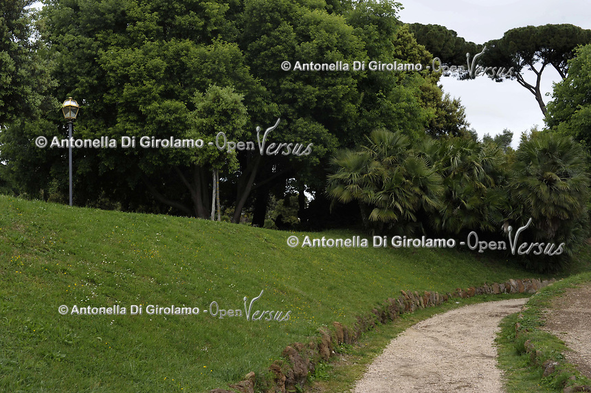 Villa Torlonia, villa di Roma sita nel quartiere Nomentano.<br /> Villa Torlonia, park in Rome.