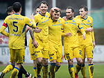 Dundee v St Johnstone…10.03.18…  Dens Park    SPFL<br />Chris Kane celebartes his goal withJason Kerr, Liam Craig and Blair Alston<br />Picture by Graeme Hart. <br />Copyright Perthshire Picture Agency<br />Tel: 01738 623350  Mobile: 07990 594431