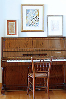 classic wooden piano