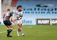 26th December 2020; Twickenham Stoop, London, England; English Premiership Rugby, Harlequins versus Bristol Bears; Nathan Hughes of Bristol Bears passing wide down the line before contact