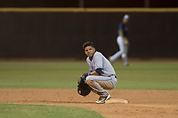 AZL Padres 1 shortstop Reinaldo Ilarraza (1) during an Arizona League game against the AZL Padres 2 at Peoria Sports Complex on July 14, 2018 in Peoria, Arizona. The AZL Padres 1 defeated the AZL Padres 2 4-0. (Zachary Lucy/Four Seam Images)