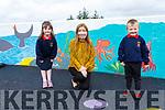 The two new Juniors who stared school in S.N. Cillín Liath on Thursday 27 August pictured l-r; Séoda Ní Bhradlaigh, Sarah Dillon(Teacher) agus Jayden Ó Briain.