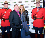 BANFF, AB, CANADA - JUNE 15:  Actor William Shatner, second left, poses for a photo on the red carpet with the Canadian Mounted Police, before the 2010 Banff World Television awards on June 15, 2010 at the Banff Springs Hotel in Banff, Alberta, Canada. Photo by Jimmy Jeong *** Local Caption *** William Shatner