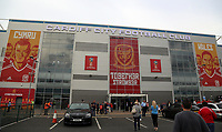 Exterior view of the stadium during the FIFA World Cup Qualifier Group D match between Wales and Austria at The Cardiff City Stadium, Cardiff, Wales, UK. Saturday 02 September 2017