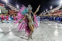 Rio de Janeiro (RJ), 22/02/2020 CARNAVAL - RJ - DESFILE - Desfile das escolas de samba Incentes de Belfort Roxo, da Serie A, neste sabado (22), no sambodromo, no centro do Rio de Janeiro (RJ).Rainha de bateria Amanda Andrade (Foto: Ellan Lustosa/Codigo 19/Codigo 19)