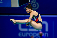 BERTOCCHI Elena ITA<br /> 3m Springboard Women Preliminary <br /> Diving <br /> Budapest  - Hungary  15/5/2021<br /> Duna Arena<br /> XXXV LEN European Aquatic Championships<br /> Photo Giorgio Perottino / Deepbluemedia / Insidefoto