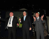 20.04.2012 Solihull, England. Former Coventry City Players celebrate 25 year FA Cup Celebrations. John Sillett and George Curtis.