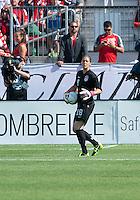 02 June 2013: U.S Women's National Soccer Team goalkeeper Nicole Barnhart #18 in action during an International Friendly soccer match between the U.S. Women's National Soccer Team and the Canadian Women's National Soccer Team at BMO Field in Toronto, Ontario.<br /> The U.S. Women's National Team Won 3-0.