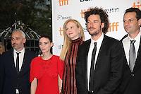 ROONEY MARA, NICOLE KIDMAN AND DIRECTOR GARTH DAVIS WITH THE PRODUCERS - RED CARPET OF THE FILM 'LION' - 41ST TORONTO INTERNATIONAL FILM FESTIVAL 2016