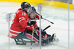 Billy Bridges, Vancouver 2010 - Para Ice Hockey // Para-hockey sure glace.<br /> Team Canada plays against Italy in Para Ice Hockey action // Équipe Canada affronte l'Italie dans un match de para-hockey sur glace. 13/03/2010.