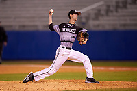 Wisconsin-Milwaukee Panthers starting pitcher Austin Schulfer (55) delivers a pitch during a game against the Ball State Cardinals on February 26, 2016 at Chain of Lakes Stadium in Winter Haven, Florida.  Ball State defeated Wisconsin-Milwaukee 11-5.  (Mike Janes/Four Seam Images)