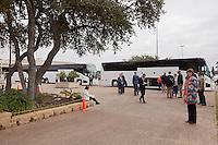 SAN ANTONIO, TX -DECEMBER 14, 2016: The University of Texas at San Antonio Roadrunner Football Team travels from San Antonio, TX to Albuquerque, NM for their appearance in the Gildan New Mexico Bowl. (Photo by Jeff Huehn)