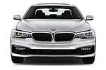 Car photography straight front view of a 2018 BMW 5 Series 530i 2WD 4 Door Sedan