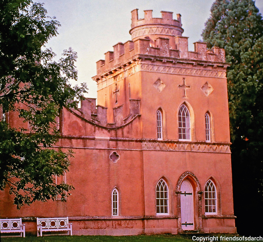 Clytha Castle is a folly in Monmouthshire, south east Wales,late eighteenth century fanciful Gothic.<br /> Built by John Davenport for William Jones in memory of his wife 1790.