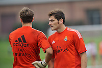 Saint Louis, MO August 1 2013<br /> Iker Casillas (1).<br /> Real Madrid practiced at Herman Stadium on the campus of Saint Louis University ahead of their international friendly with Inter Milan at the Edward Jones Dome.