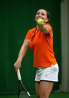 29-1-10, Almere, Tennis, Training Fedcup team, Nicole Thyssen