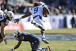 Middle Tennessee Blue Raiders wide receiver Kyle Griswould (9) in action during the Armed Forces Bowl game between the Middle Tennessee Blue Raiders and the Navy Midshipmen at the Amon G. Carter Stadium in Fort Worth, Texas. Navy defeated Middle Tennessee 24 to 6.