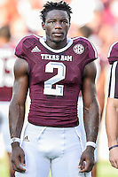 Texas A&M wide receiver Speedy Noil (2) before NCAA Football game kickoff, Saturday, September 06, 2014 in College Station, Tex.(Mo Khursheed/TFV Media via AP Images)