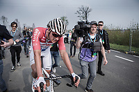 Mathieu Van der Poel (NED/Corendon Circus) after finishing 4th place<br /> <br /> 103rd Ronde van Vlaanderen 2019<br /> One day race from Antwerp to Oudenaarde (BEL/270km)<br /> <br /> ©kramon