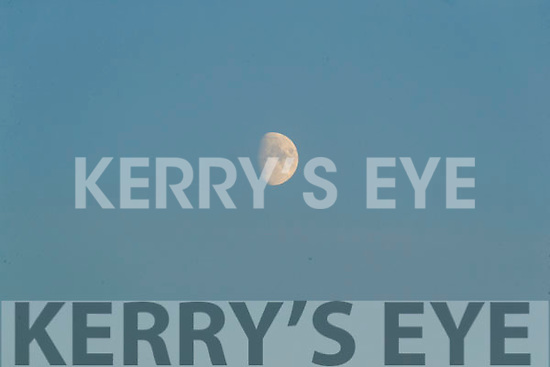 General view of the moon during the Kerry County Senior Football Championship Final match between East Kerry and Mid Kerry at Austin Stack Park in Tralee on Saturday night.