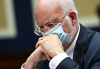 Centers for Disease Control and Prevention Dr. Robert Redfield wears a face mask when he attends the House Committee on Energy and Commerce on the Trump Administration's Response to the COVID-19 Pandemic, on Capitol Hill in Washington, DC on Tuesday, June 23, 2020.    <br /> Credit: Kevin Dietsch / Pool via CNP/AdMedia