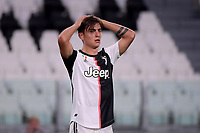 Paulo Dybala of Juventus during the Serie A football match between Juventus FC and SS Lazio at Juventus stadium in Turin (Italy), July 20th, 2020. Play resumes behind closed doors following the outbreak of the coronavirus disease. <br /> Photo Federico Tardito / Insidefoto