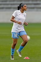 Chicago, IL - Saturday Sept. 24, 2016: Samantha Johnson prior to a regular season National Women's Soccer League (NWSL) match between the Chicago Red Stars and the Washington Spirit at Toyota Park.