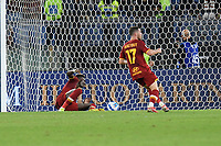 23rd September 2021;  Stadio Olimpicom, Roma, Italy; Serie A League Football, Roma versus Udinese;Tammy Abraham of As Roma scores the goal 1-0
