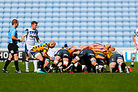 25th April 2021; Ricoh Arena, Coventry, West Midlands, England; English Premiership Rugby, Wasps versus Bath Rugby; Dan Robson of Wasps puts the ball into a scrum