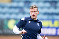 20th February 2021; Dens Park, Dundee, Scotland; Scottish Championship Football, Dundee FC versus Queen of the South; Lee Ashcroft of Dundee during the warm up before the match