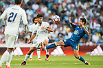 Marco Asensio Willemsen of Real Madrid fights for the ball with Hugo Mallo of RC Celta de Vigo during their La Liga match at the Santiago Bernabeu Stadium between Real Madrid and RC Celta de Vigo on 27 August 2016 in Madrid, Spain. Photo by Diego Gonzalez Souto / Power Sport Images