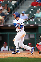 Buffalo Bisons third baseman David Adams (21) at bat during a game against the Louisville Bats on June 23, 2016 at Coca-Cola Field in Buffalo, New York.  Buffalo defeated Louisville 9-6.  (Mike Janes/Four Seam Images)