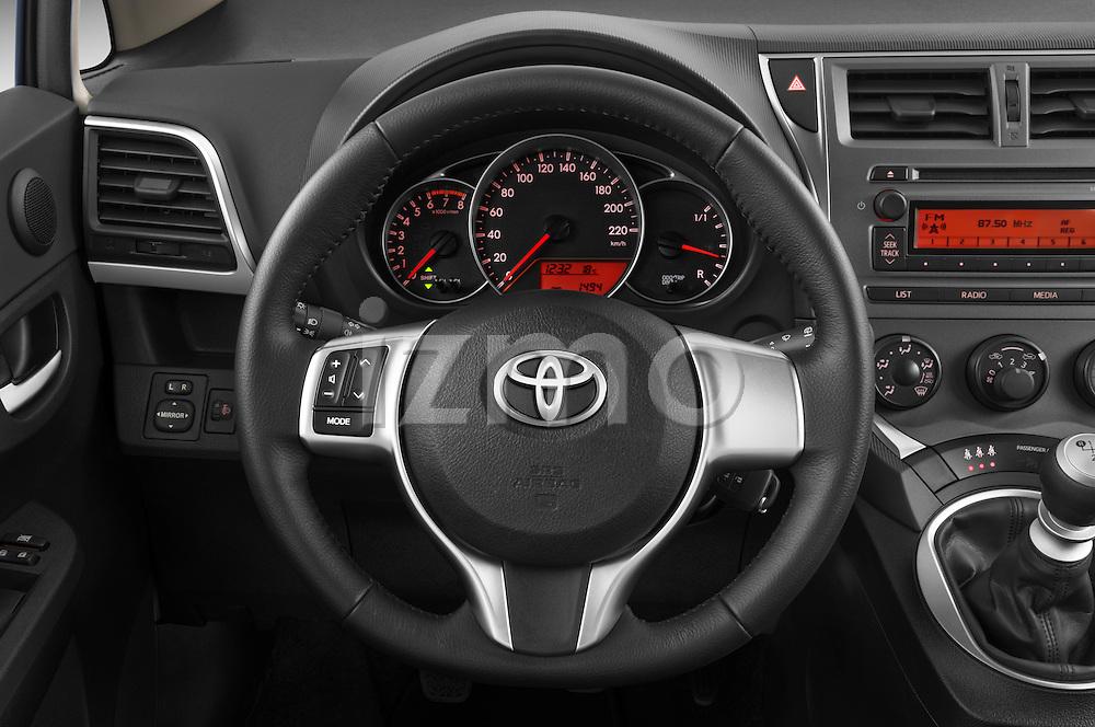 Steering wheel view of a 2011 Toyota Verso-S Terra 5 Door Hatchback